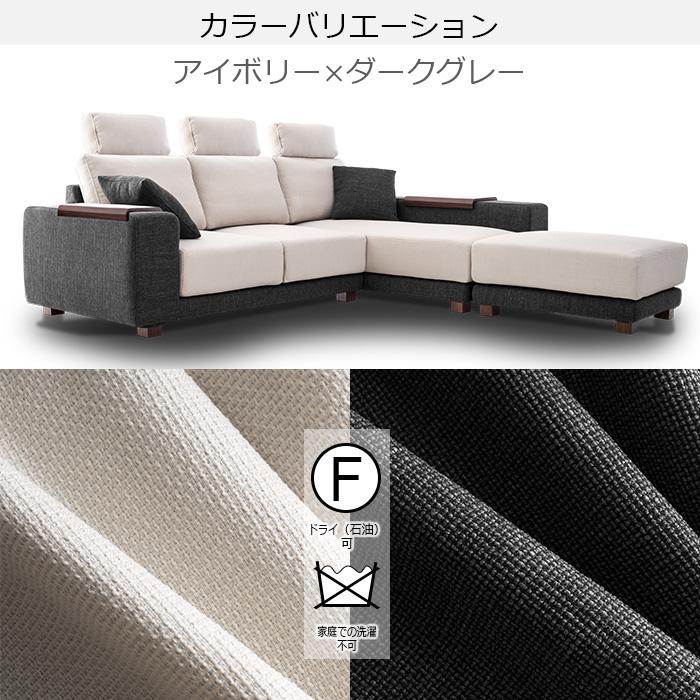 ダークグレー糸はグレー糸とブラック糸で編み込まれています。